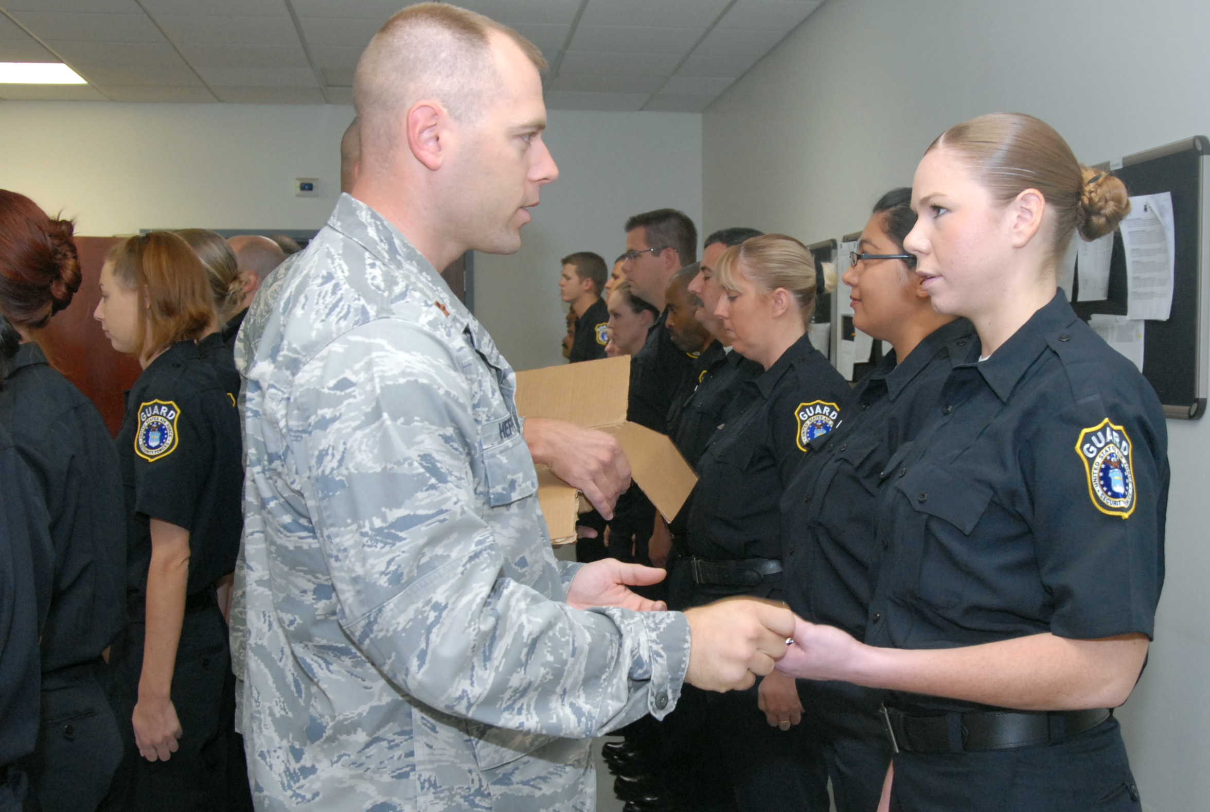 95th Sfs Welcomes First Batch Of New Civilian Police Force