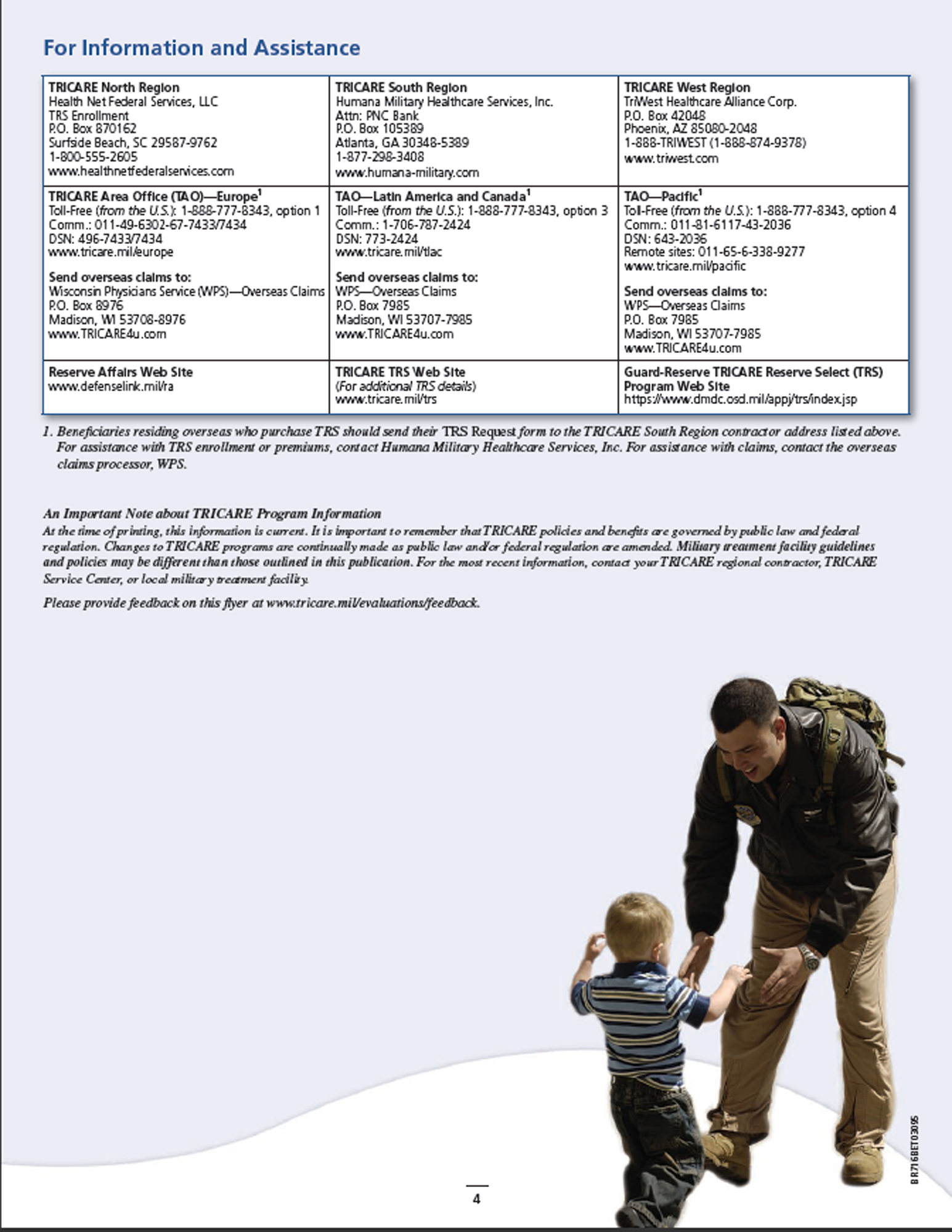 TRICARE Reserve Select Flyer Primary Source
