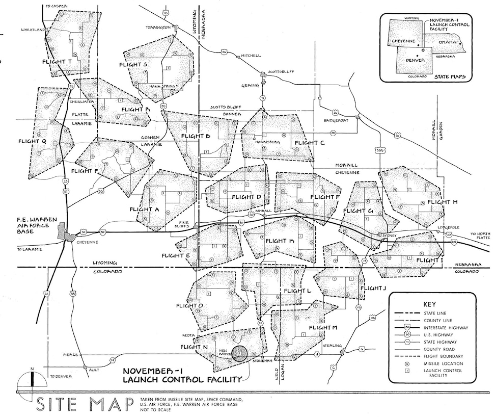 Minuteman III composite site map