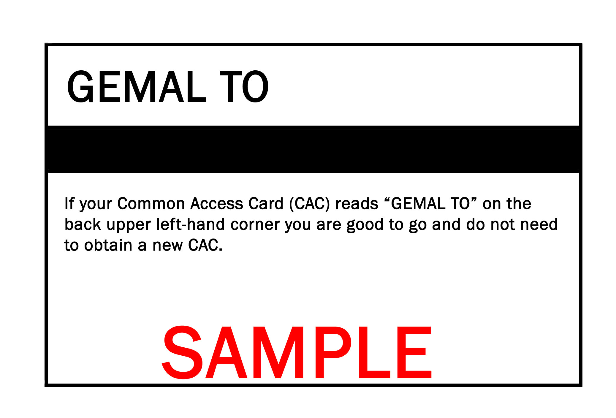 Older Common Access Cards require replacement