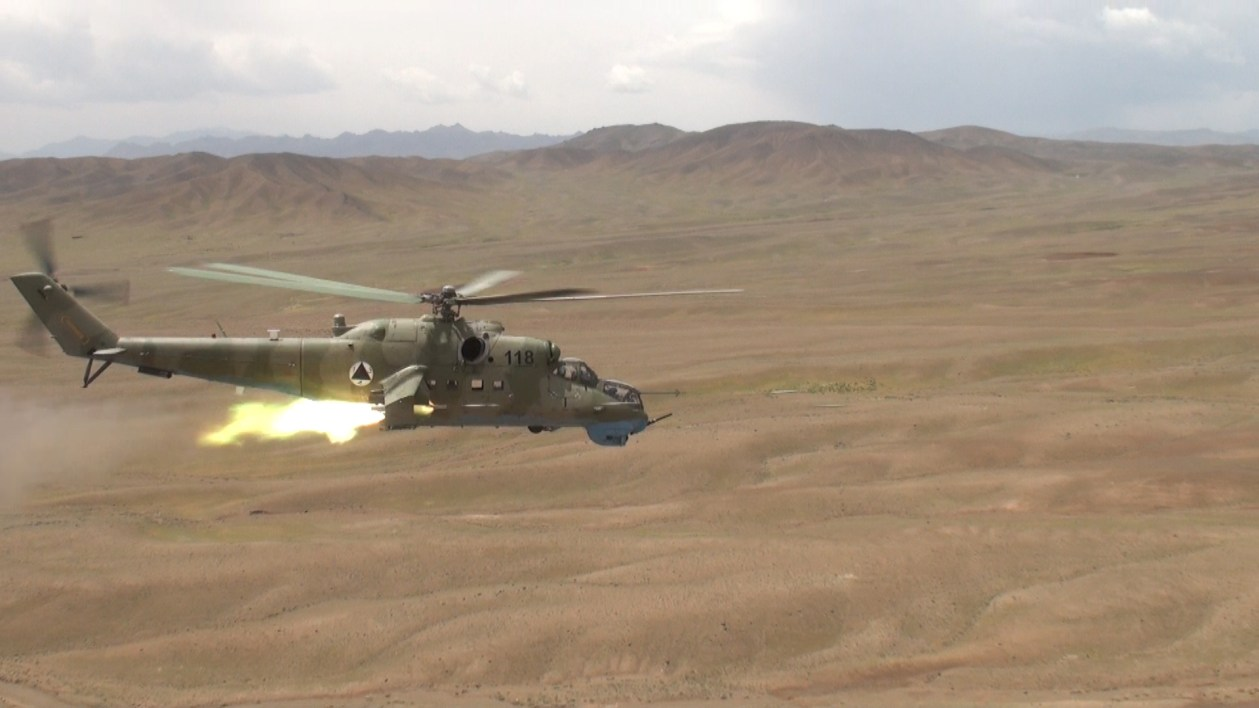 Mi-35 helicopter Taliban resistance