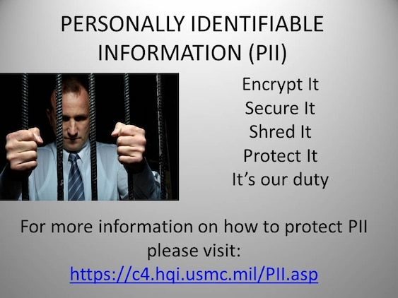 Safeguard against identity theft Protect your Personally