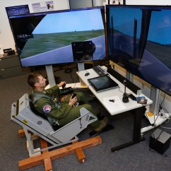 Flight Simulator Chair Motion Vinyl Covers Walmart Cadet Researchers Take A Front Seat To Improve Pilot Training