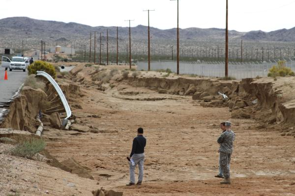 Corps sends team to Fort Irwin to assess recent storm