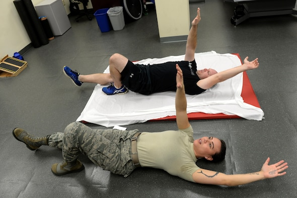 Physical therapists provide healing touch  Seymour Johnson Air Force Base  Article Display