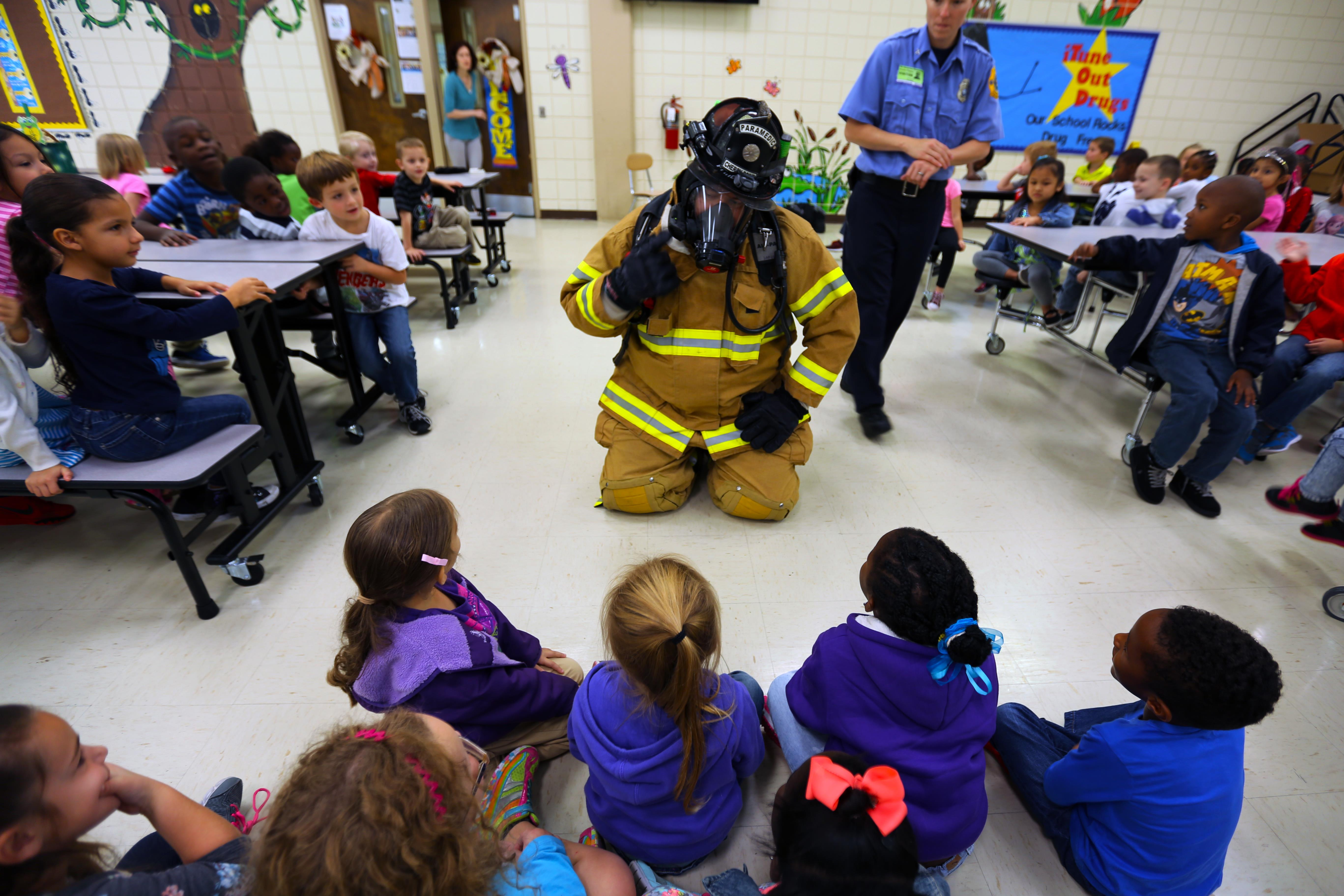 Firefighters Educate Local Elementary School Students On