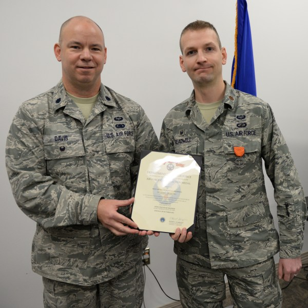 Treadwell awarded Air Force Combat Action Medal gt 157th