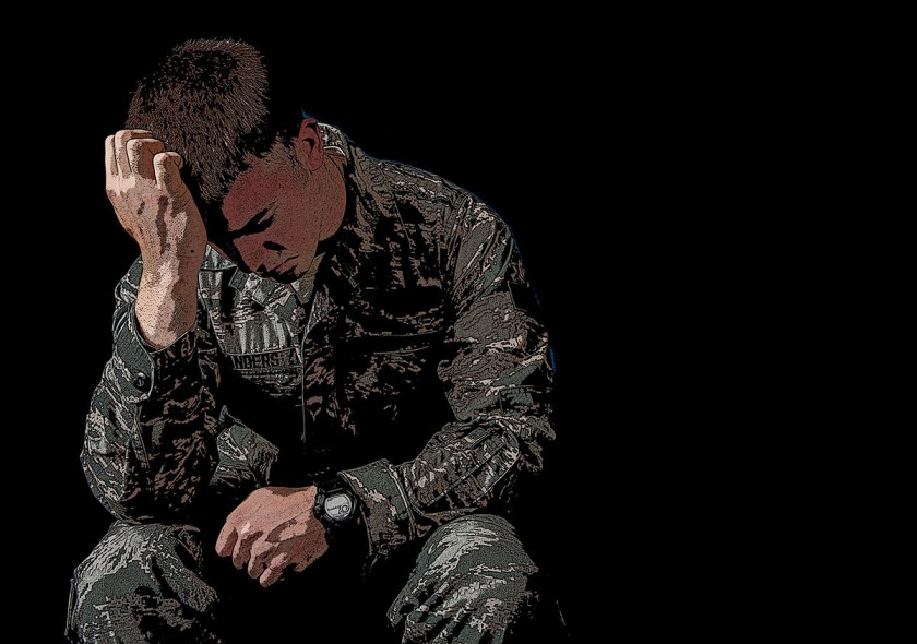 Image result for soldier ptsd