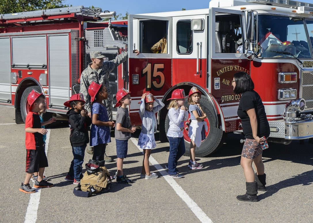 Firefighters Teach Fire Safety