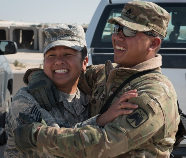 Deployed Brother Sister Reunite After 10 Years Apart