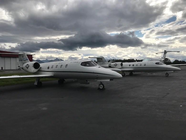 2 C-21s on ramp in Alaska