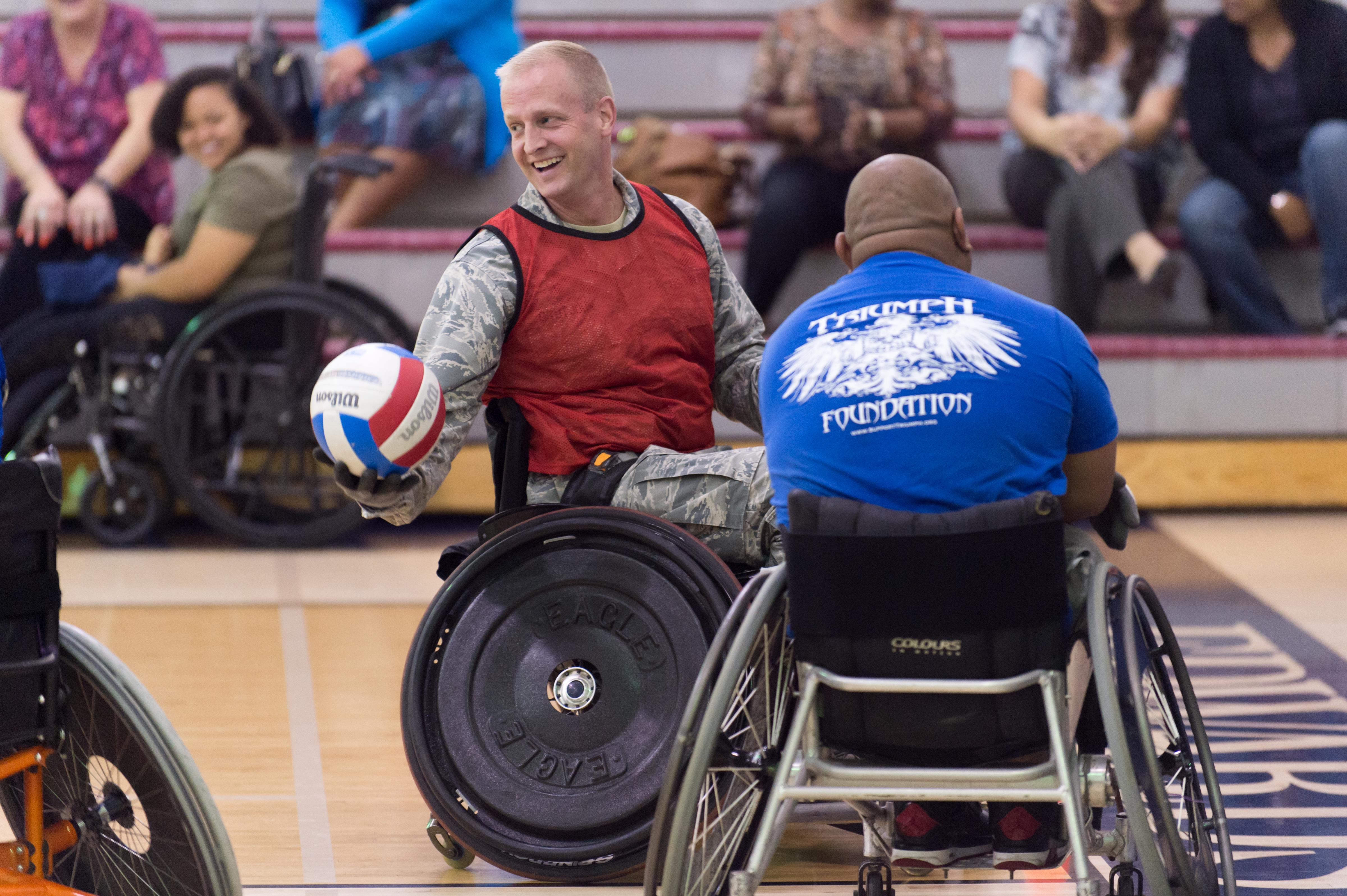 wheelchair jobs traditional dining chairs airmen rugby players clash for national