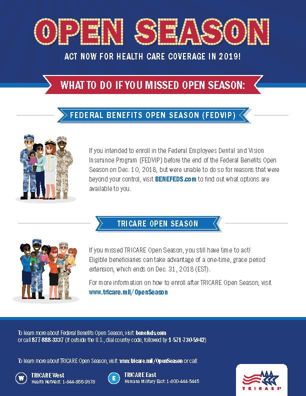 Missed TRICARE Open Season Theres still time to act