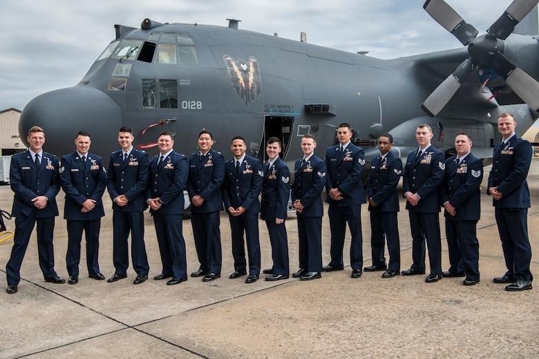 Air commandos with the 4th Special Operations Squadron were presented with two Distinguished Flying Cross medals and 12 Air Medals by Lt. Gen. Jim Slife, commander of Air Force Special Operations Command, at Hurlburt Field, Fla., March 2, 2020. (U.S. Air Force photo by Senior Airman Joseph P. Leveille)