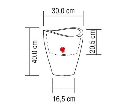 Scheurich Kunststoff Vase rund weigranit  Dehner Garten Center