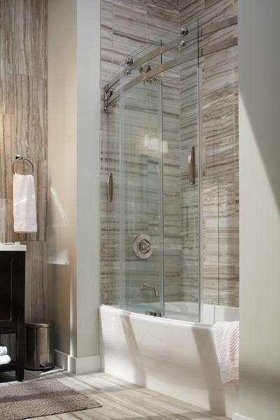 60 x 30 Curved Bathtub Shower Door B559106030SS
