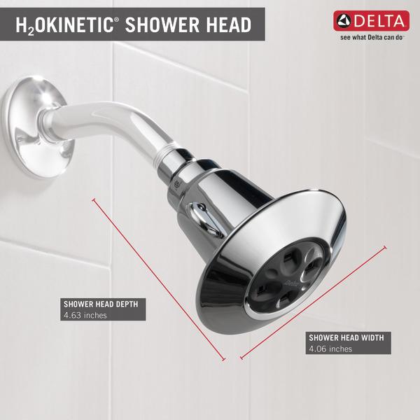 delta faucet 2 spray shower head chrome