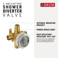 3- and 6-Setting Diverter Rough R11000 | Delta Faucet