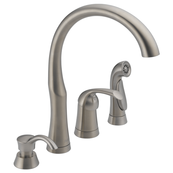3 hole kitchen faucet contemporary curtains single handle with spray soap dispenser 11946 sssd