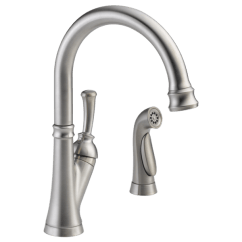 Kitchen Faucets With Sprayer Jars Single Handle Faucet Spray 11949 Ss Dst Delta Download Image