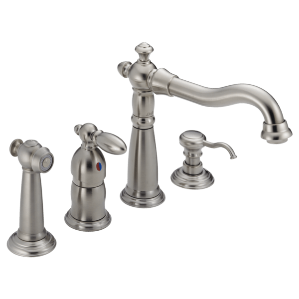 delta single handle kitchen faucet ikea kitchens reviews 156 sswf victorian