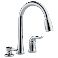 Kitchen Faucet Narrow Cart Single Handle Pull Down With Soap Dispenser 16970 Sd Download Image