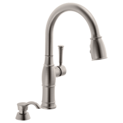 Kitchen Sink Faucets Crosley Alexandria Island Single Handle Pull Down Faucet With Soap Dispenser 19957 Download Image
