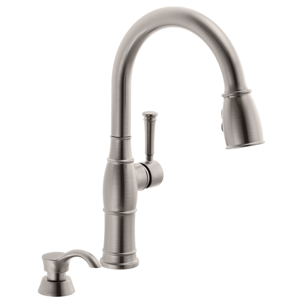 kitchen sink faucets pvc cabinets single handle pull down faucet with soap dispenser 19957 download image