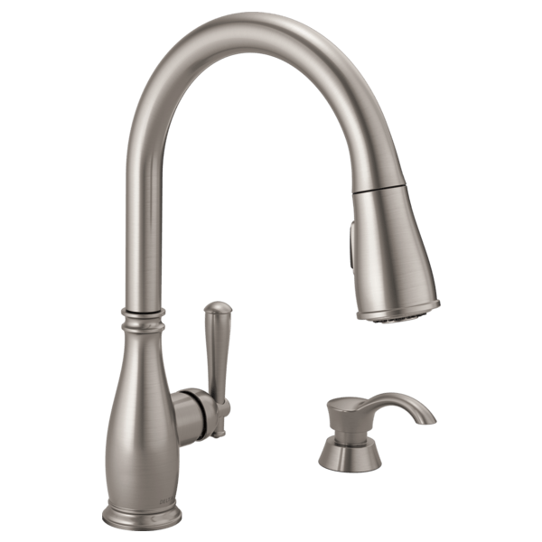 kitchen faucet moen backsplashes for counters single handle pull down with soap dispenser 19962 download image