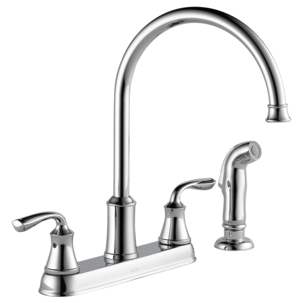 Two Handle Kitchen Faucet with Spray 21716LF  Delta Faucet