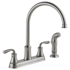 Two Handle Kitchen Faucet Broan Hood With Spray 21716lf Ss Delta Lorain