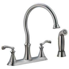 Two Handle Kitchen Faucet Filter System With Spray 21925lf Ss Delta Download Image
