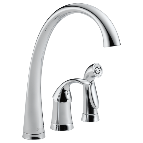 chrome kitchen faucet discount islands single handle with spray 4380 dst delta download image