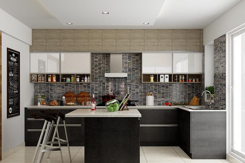 L Shaped Modular Kitchen Designs For Indian Homes Design Cafe