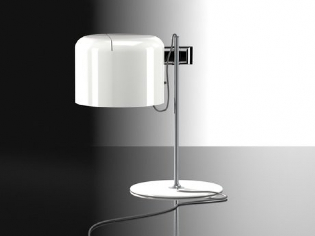 Modern Dining Table With Extension Coupe Table Lamp 3d Model | Oluce