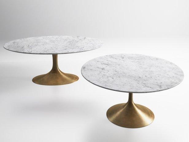 Aero Marble Dining Table 3d Model Restoration Hardware Usa