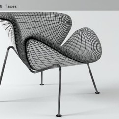 Orange Slice Chair Accent Chairs For Office 3d Model Artifort 4