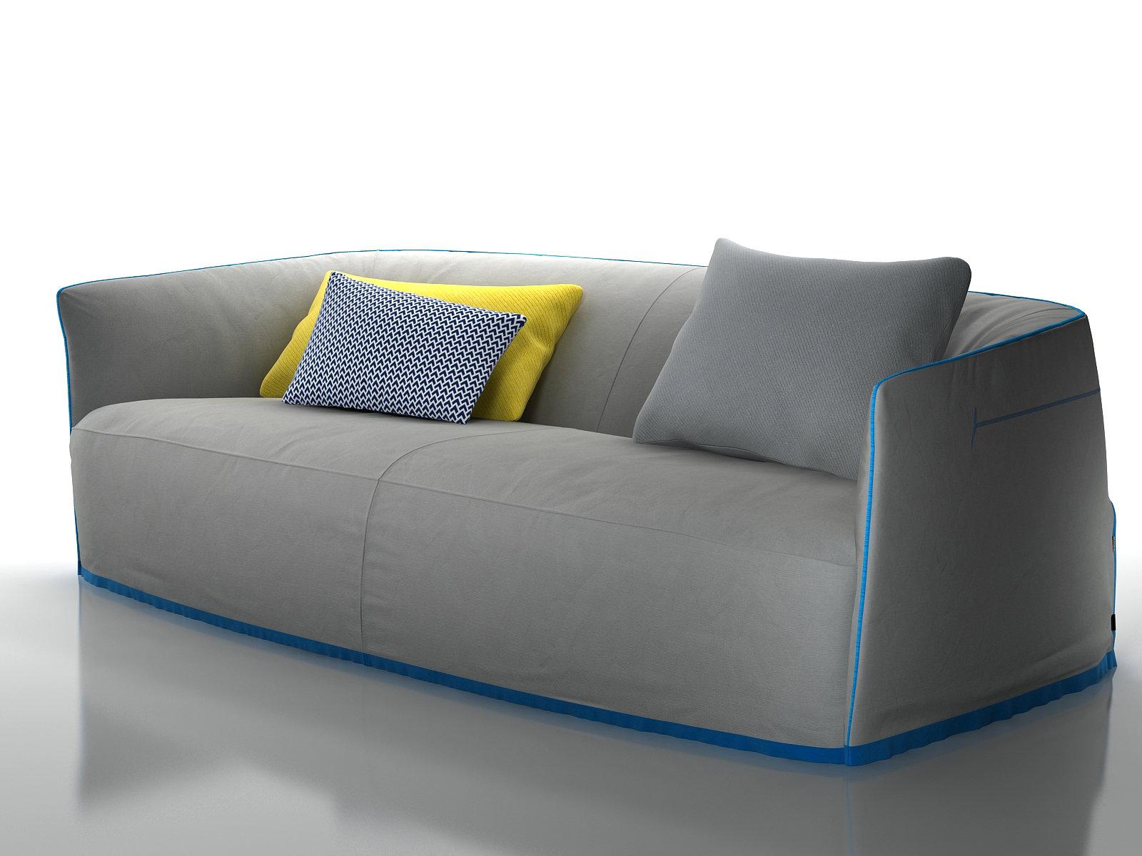 santa monica sofa set table contemporary 3d model poliform