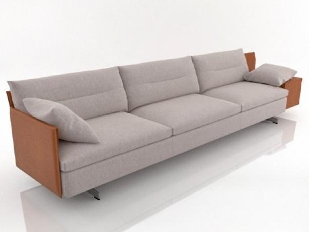 GranTorino 3 seater sofa modello 3d Poltrona Frau