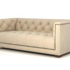 Savoy Leather Sofa Restoration Hardware Chocolate Color 6 39 3d Model
