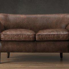 Professor Chair Restoration Hardware Office Illustration 39s Leather Double 3d Modell
