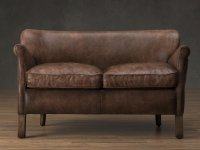 Professor's Leather Double Chair 3D-Modell | Restoration ...