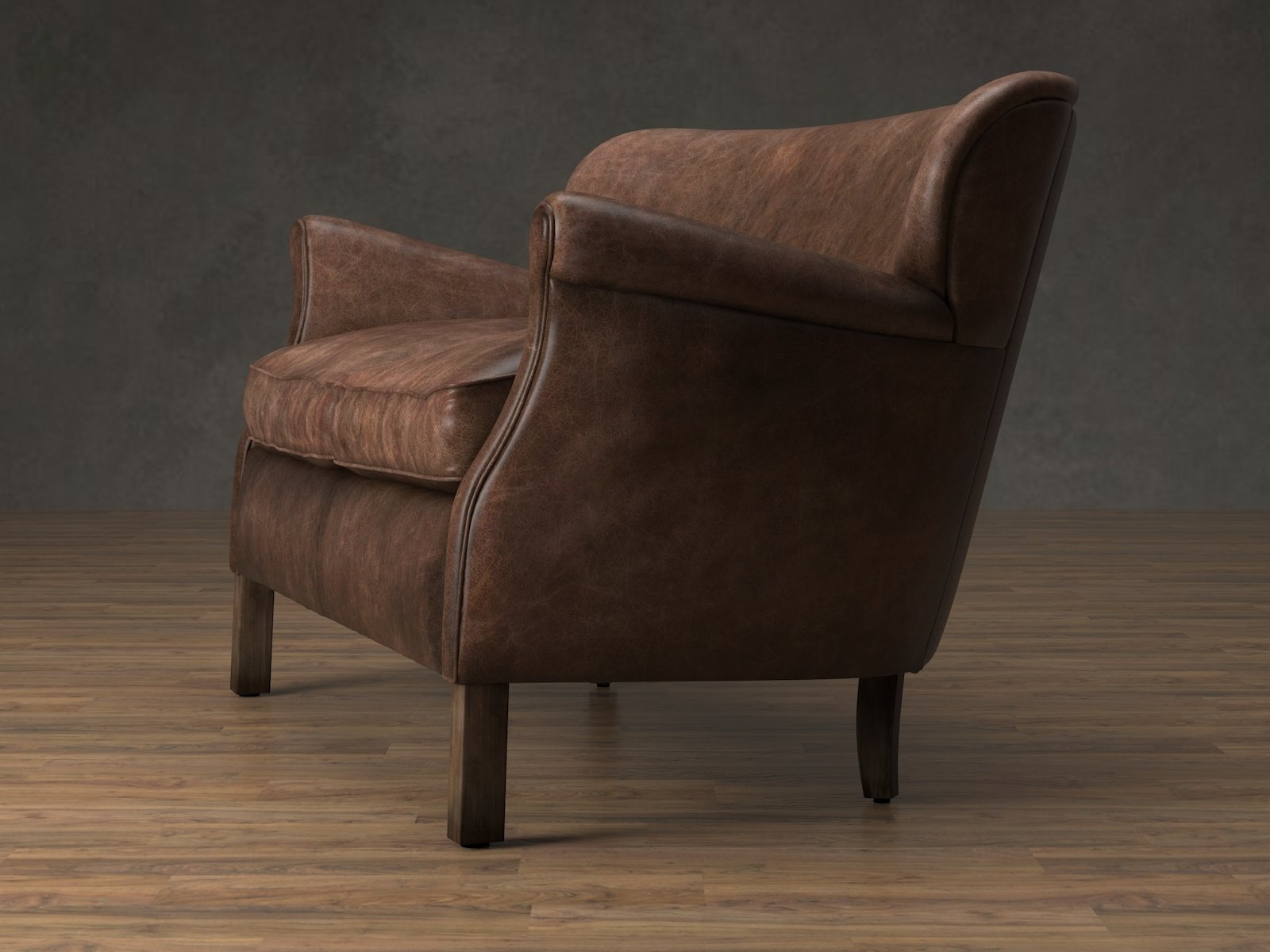 professor chair restoration hardware serta arlington review 39s leather double 3d modell