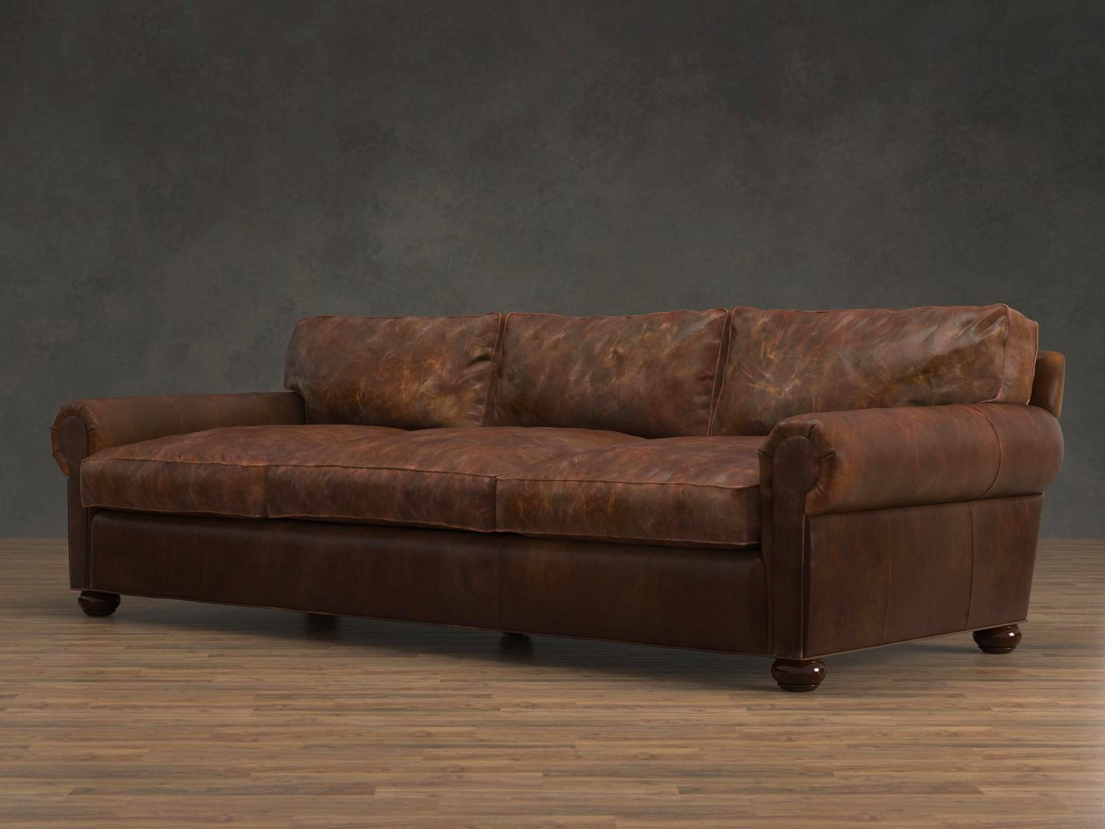tindall 96 leather sofa futons bed weymouth quot lancaster 3d model restoration hardware