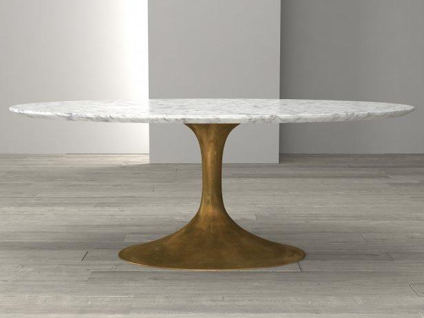 Aero Marble Dining Table 3d model  Restoration Hardware
