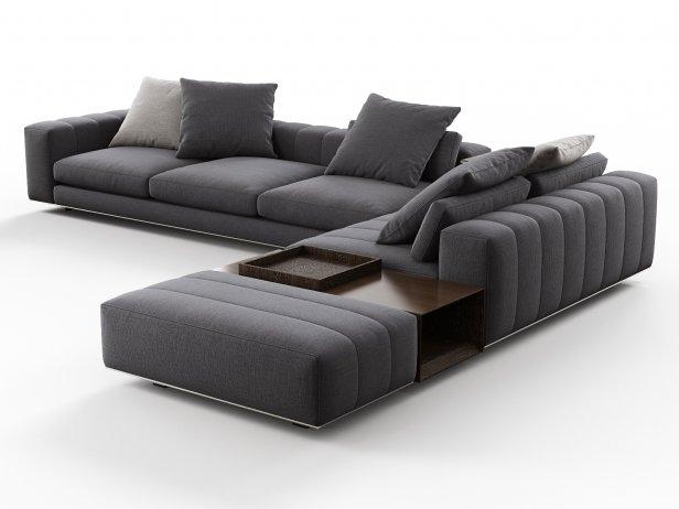 Freeman Corner Sofa System N 3d Model Minotti