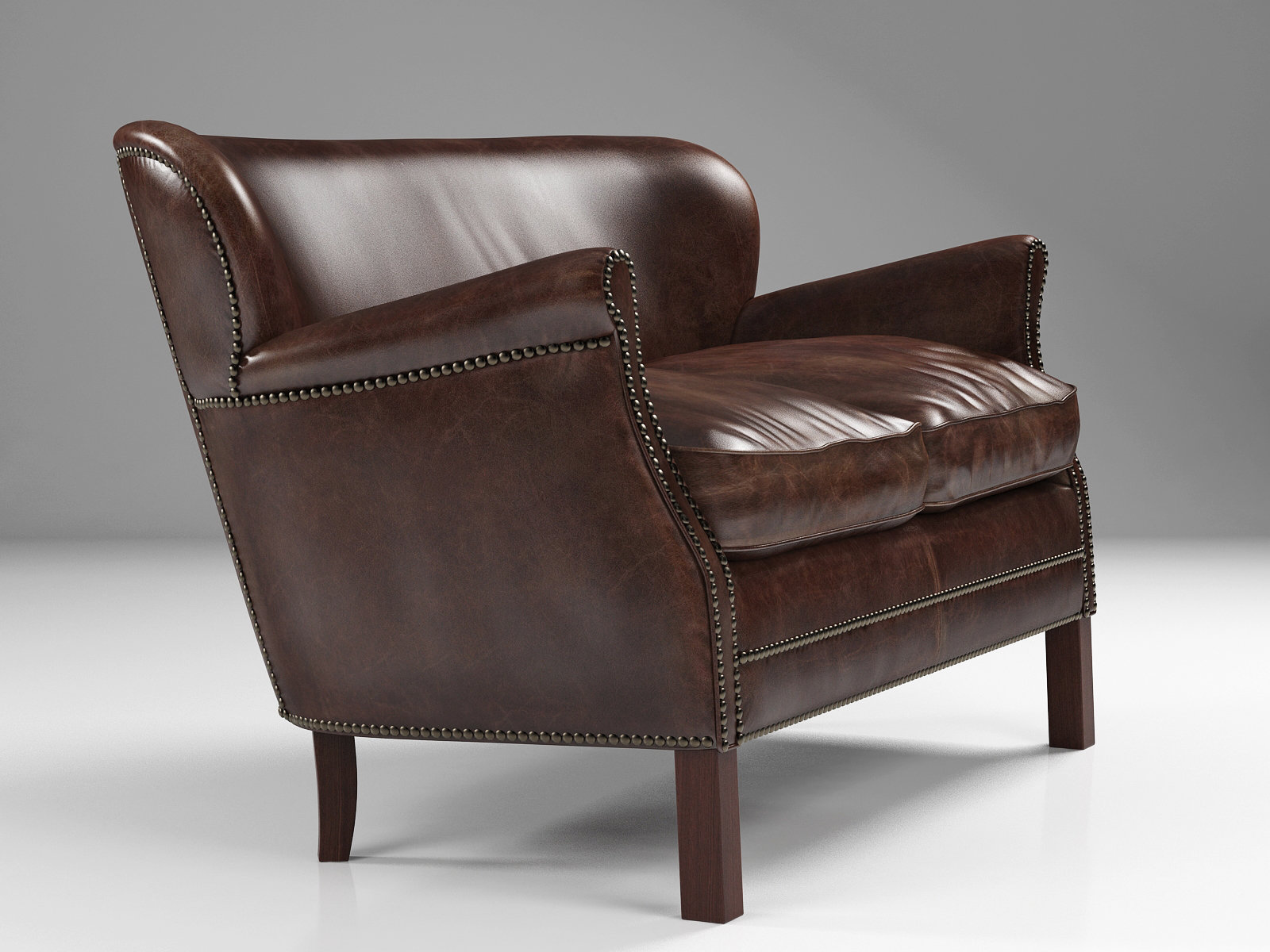 professor chair restoration hardware covers hire cheap 39s leather double with nailheads modello 3d