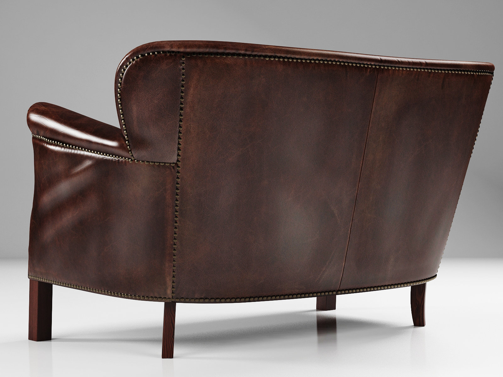 professor chair restoration hardware design by le corbusier 39s leather double with nailheads 3d model
