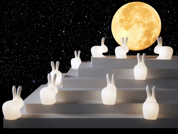 Rabbit Lamps 3d Model Qeeboo Italy