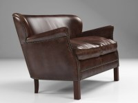 Professor's Leather Double Chair With Nailheads 3d model ...